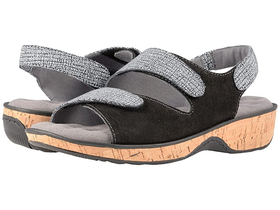 SoftWalk Bolivia (Black Embossed Leather) Women