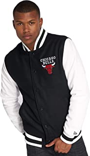 adidas M Bulls Bomber Veste Basketball Homme Noir Rouge NBA