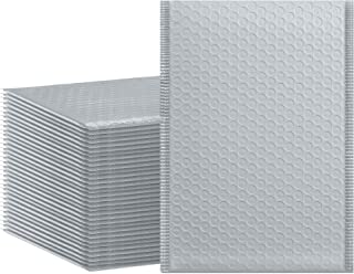 HBlife #0 6x10 Inches Poly Bubble Mailers Self Seal Gray Padded Envelopes, Pack of 50