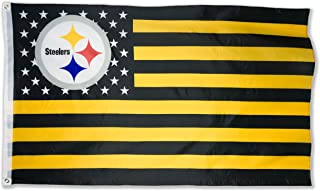 WHGJ NFL Pittsburgh Steelers 3X5 FT USA Double Sided Flag Sports Banner Indoor and Outdoor