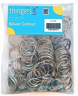 Thingers UK 100 Split Rings - 25mm Key Rings
