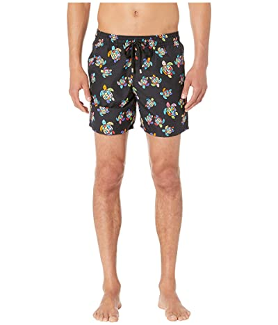 Vilebrequin Moorea Over the Rainbow Turtles Swim Trunks (Black) Men