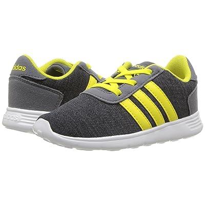 adidas Kids Lite Racer (Infant/Toddler) (Carbon/Shock Yellow/Onix) Kids Shoes
