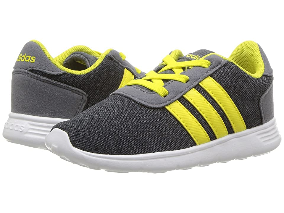 adidas Kids Lite Racer (Infant/Toddler) (Carbon/Shock Yellow/Onix) Kids Shoes