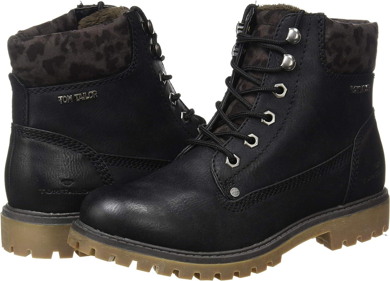 TOM TAILOR Women's 9090104 Mid Calf Boot, Black, 7.5 US