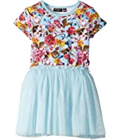 Rock Your Baby - Nothing But Flowers Short Sleeve Circus Dress (Toddler/Little Kids/Big Kids)