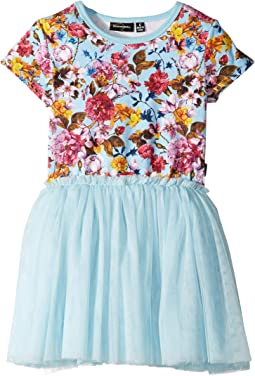 Nothing But Flowers Short Sleeve Circus Dress (Toddler/Little Kids/Big Kids)