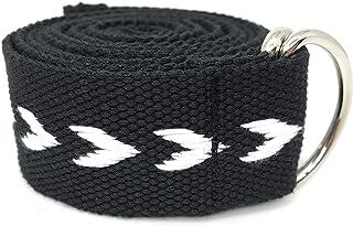 Tiiyar ヨガストラップ/ヨガベルト - 【難しいポーズの補助に!】184 cm 調節可能 シルキー 快適な感触 (厚く黒+白)