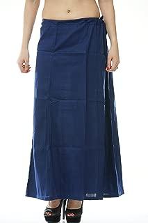 Navy Blue Saree Inskirt Petticoat Cotton - Free Size