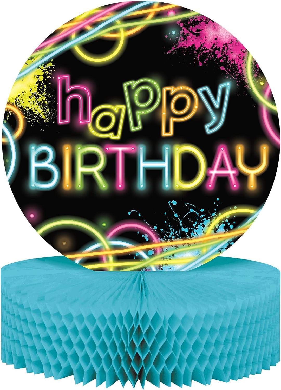 Lot de 6 - Centre de Table Happy Birthday GFaible Party - Taille Unique - Décoration et Accessoires de fête, Animation, Anniversaire, Mariage, événeHommest, Jouet, Ballon