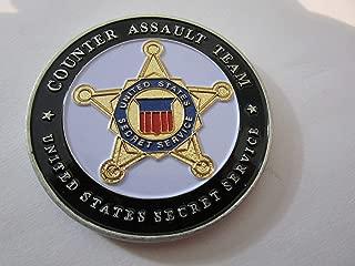 United States Secret Service Counter Assault Team Challenge Coin Measures 2 1/4
