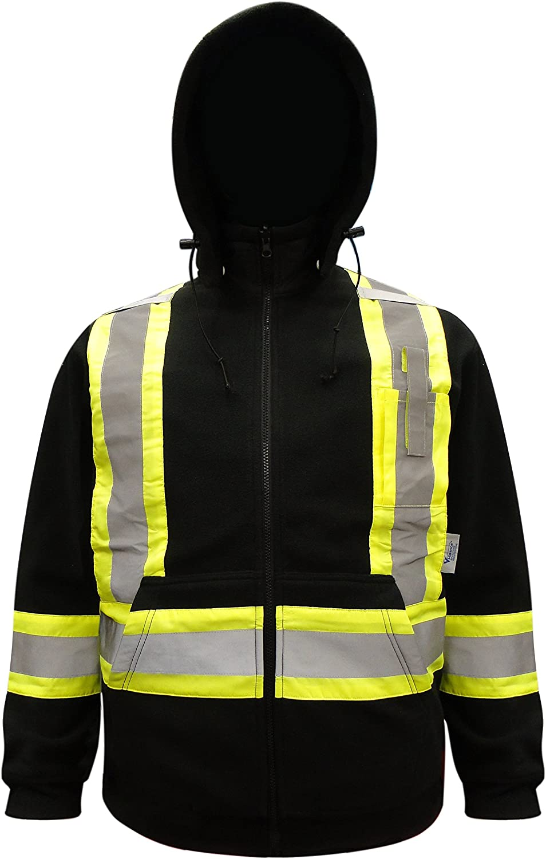 Viking Safety HiVis Fleece Hoodie XXBlack Large