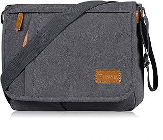 Estarer Umhängetasche Schultertasche Laptoptasche 14 Zoll für Schule Uni Freizeit Job mit Laptopfach & Anti Diebstahl Tasc...
