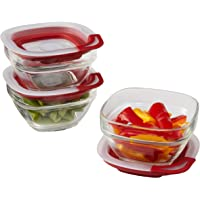 Rubbermaid 3 Count 1 Cup Easy Find Lids Glass Food Storage Container