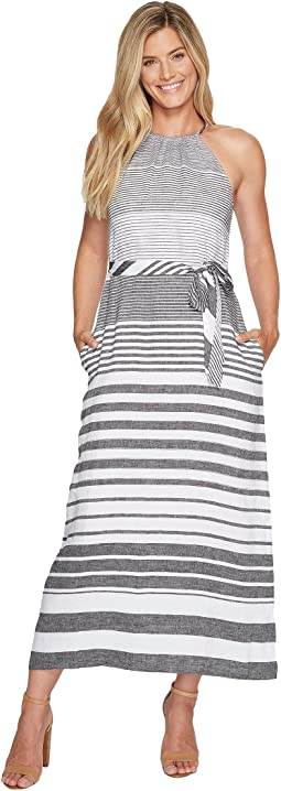 Opal Stripe Halter Maxi Dress