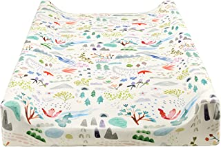 Vollmic Diaper Changing Pad Cover Cradle Sheets Mattress Bassinet Sheet Changing Table Pad Cover for Unisex Baby Boy Baby ...