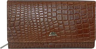 Laveri Brown Leather For Women - Flap Wallets