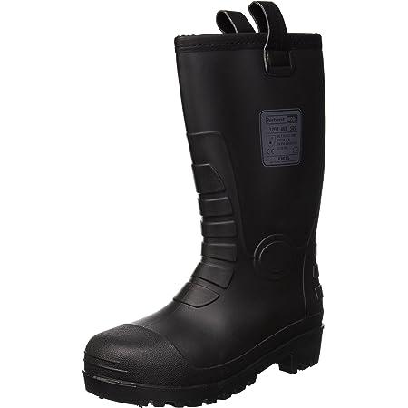 Portwest FW75BKR37 Series FW75 Neptune Rigger Boot, S5 CI, Regular, Size: 37, Black
