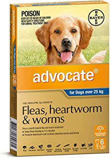 Advocate - Fleas, Heartworm and Worms Treatment for Dogs Over 25kg, 6 Pack