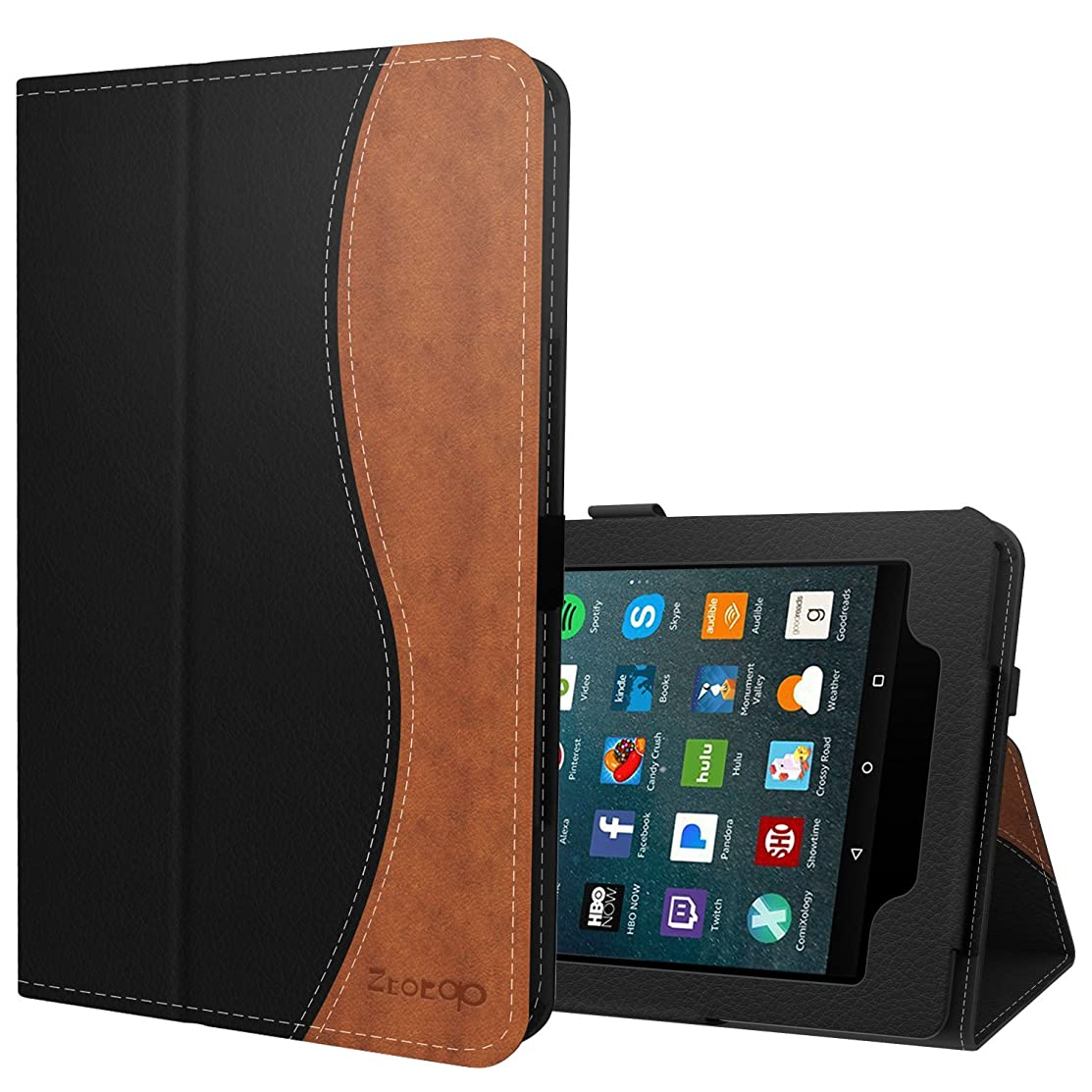 Ztotop Folio Case for All-New Amazon Fire 7 Tablet (7th Generation, 2017 Release) - Smart Cover Slim Folding Stand Case with Auto Wake/Sleep for Fire 7 Tablet,DualColor