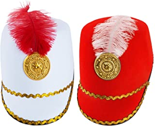 Marching Band Hat - 2 Pack - Nutcracker Hat - Soldier Hat - Drum Major Hat - Toy Soldier Hat