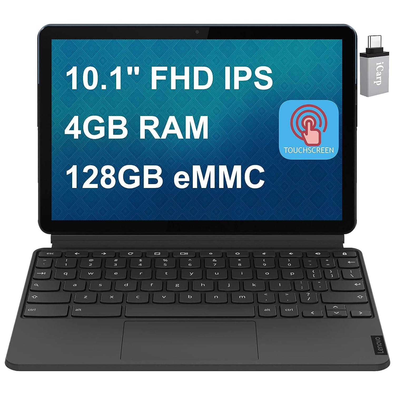 2020 Latest Lenovo Chromebook Duet 2 in 1 Tablet