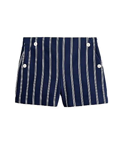 J.Crew Nautical Striped Shorts (Navy/Ivory) Women