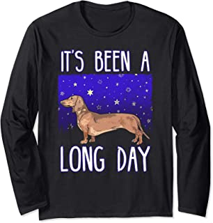 Dachshund Pajama Night Shirt IT'S BEEN A LONG DAY tee
