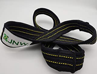 JNW Figure 8 Wrist Straps for Powerlifting - Small (60cm)