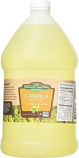 روغن سالم Harola Harola Canola - دارای مجوز غیر GMO با آنتی اکسیدان ها و امگا 3s {One Gallon - 128 oz.