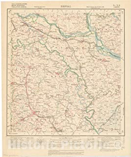 Historic Pictoric Map : Dacca, Faridpur, Jessore, Khulna, Mymensingh, Nadia & Pabna Districts, Bengal, No. 79 E 1931, India 1:253,440, Antique Vintage Reproduction : 37in x 44in