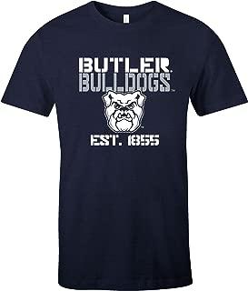 NCAA Butler Bulldogs Est Stack Jersey Short Sleeve T-Shirt, Navy,Large