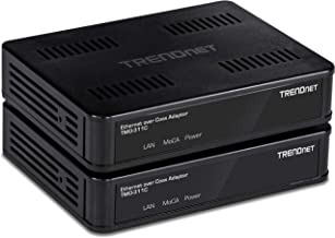 Best TRENDnet MoCA 2.0 Ethernet Over Coax Adapter,(2-Pack), TMO-311C2K, Backward Compatible w/MoCA 1.1/1.0, Gigabit LAN Port, Supports Net Throughput up to 1Gbps, Supports up to 16 Nodes on One Network Review