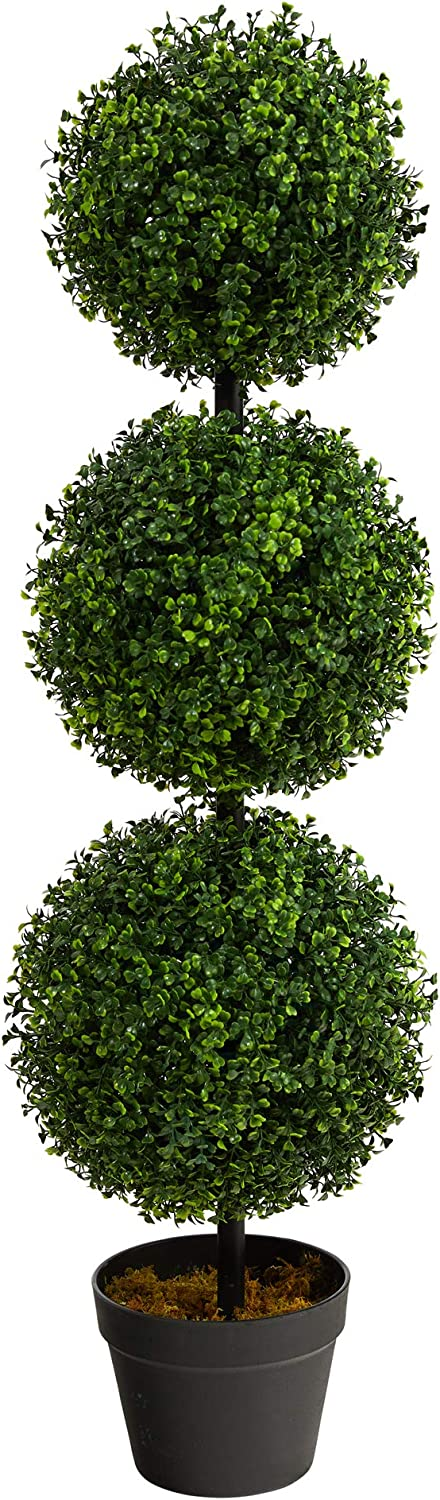 3ft. Boxwood Triple Ball Topiary Artificial Tree (Indoor/Outdoor) -