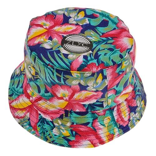 f3ff422c310 ZLYC Fashion Print Bucket Hat Summer Fisherman Cap for Women Men Teens
