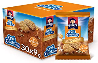 Quaker Oat cookies with Honey Nuts, 9 gm, 24+6 Pack