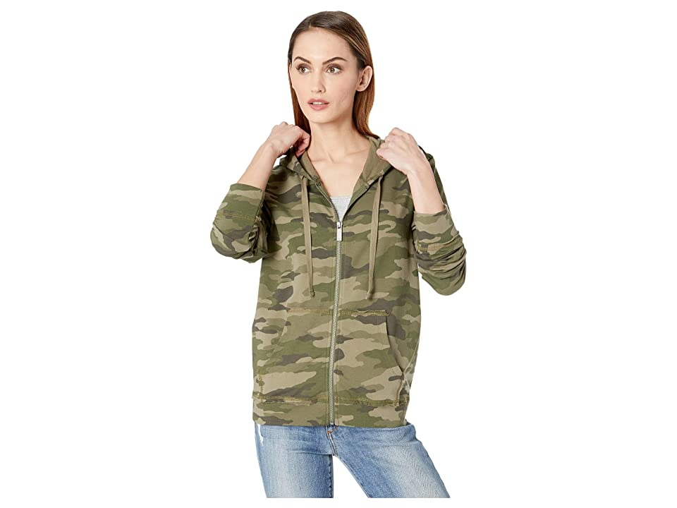 TWO by Vince Camuto Avenue Camo Zip-Up Hoodie (Winter Olive) Women