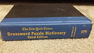 The New York Times Crossword Puzzle Dictionary (3rd) Third Edition (HARDCOVER)