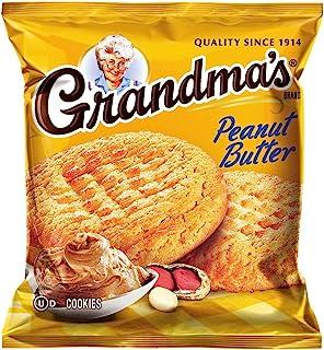 Grandmas Homestyle Peanut Butter Big Cookies 82.5oz - 33 Pks - Total 66 Cookies by Grandma's