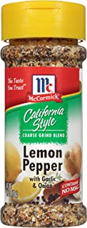 McCormick California Style Coarse Grind Blend Lemon & Pepper with Garlic and Onion, 2.5 Ounce