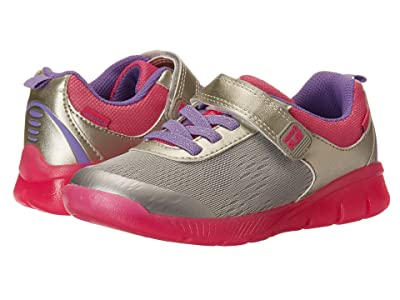 Stride Rite M2P Lighted Neo (Little Kid) (Silver) Girls Shoes