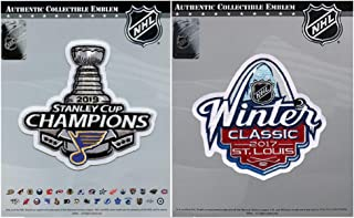 National Emblem 2019 NHL Stanley Cup Champions St Louis Blues 2017 Winter Classic Patch Combo