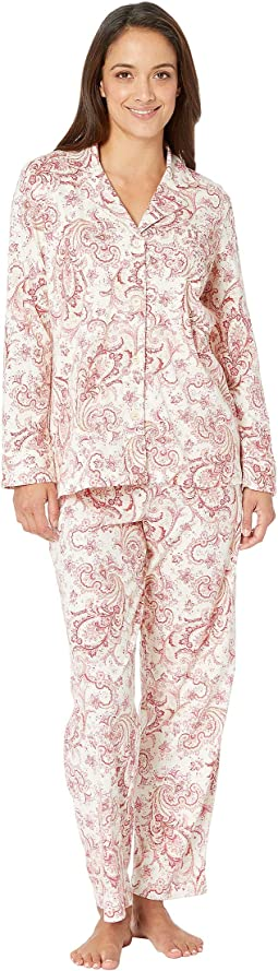 Petite Classic Knit Notch Collar Pajama Set