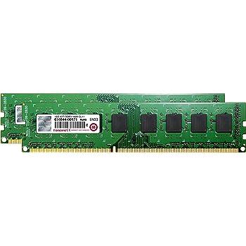 Transcend デスクトップPC用メモリ PC3-12800 DDR3 1600 16GB 1.5V 240pin DIMM Kit (8GB×2pcs) JM1600KLH-16GK