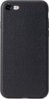ZUKOU Phone case for iPhone 8 and iPhone 7 Black Leather Texture Embossed Soft Ultra Slim fit Thin Protective Lightweight ...