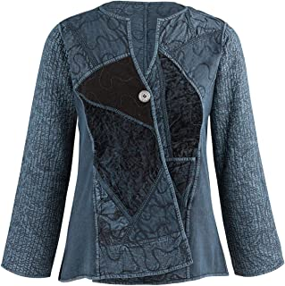 Parsley & Sage Women's Cheyenne Reversible Jacket -Asymmetrical Front Pieced Coat