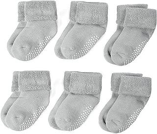 Zaples Unisex Baby Socks 3/6 Pack Soft Cotton Warm Winter Infant & Toddler Socks