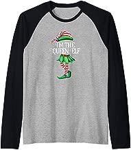 I'm the Queen Elf Matching Family Pajamas Christmas Gift Raglan Baseball Tee