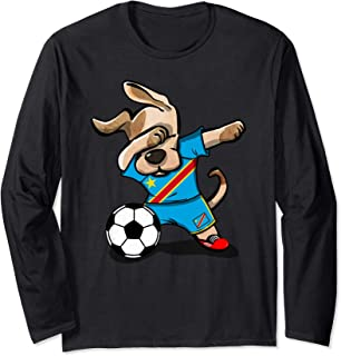 Dog Dabbing DR Congo Soccer Jersey Shirt Congolese Football