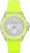 Michael Kors Women's Wren Stainless Steel Quartz Watch with Silicone Strap, Yellow, 20 (Model: MK6678)